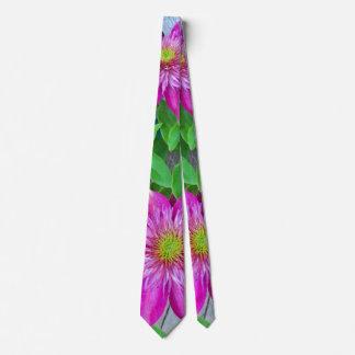 Pink Clematis Flower 2016 Tie
