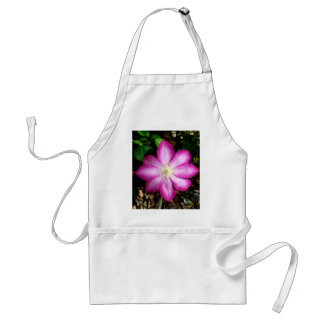 Pink Clematis Flower Apron
