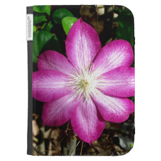 Pink Clematis Flower Kindle Keyboard Cases
