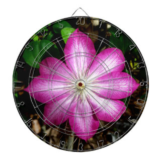 Pink Clematis Flower Dart Boards