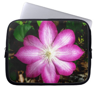 Pink Clematis Flower Computer Sleeves