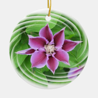 Pink Clematis Flower Ornament