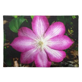 Pink Clematis Flower Place Mats