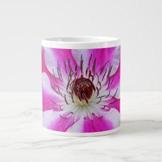 Pink Clematis Flower Extra Large Mug