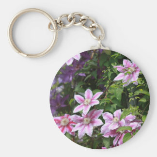Pink Clematis Key Chain