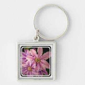 Pink Clematis Keychain