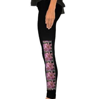 Pink Clematis Legging Tights
