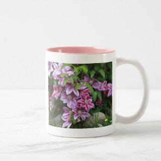 Pink Clematis Coffee Mug