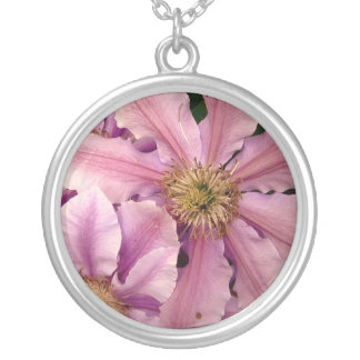 Pink Clematis Necklace