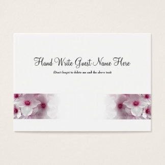 Pink Clematis - Place Cards