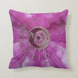Pink Clematis Swirl Throw Cushion