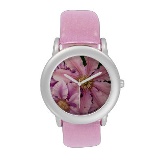 Pink Clematis Watches