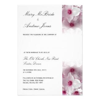 Pink Clematis - Wedding Invitation