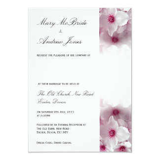 Pink Clematis - Wedding Invitation