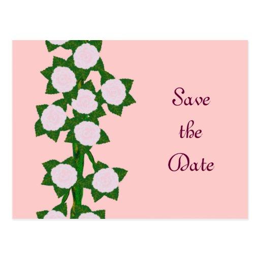 Pink Climber Save the Date Postcard