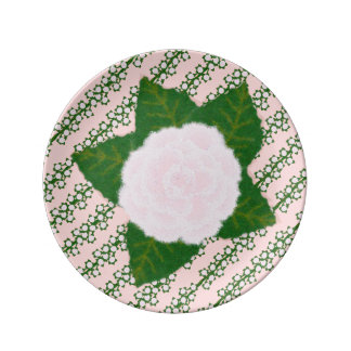 Pink Climber Small Porcelain Plate