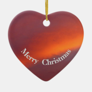 Pink cloud Christmas heart ornament