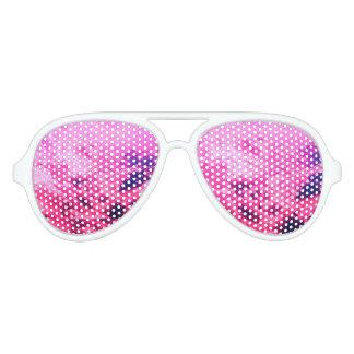 Pink clouds aviator sunglasses
