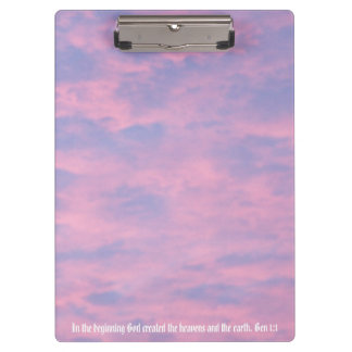 Pink Clouds Bible Verse Photo Clipboard