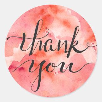 Pink Clouds of Gratitude Classic Round Sticker