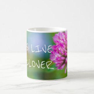 Pink clover flower coffee mug