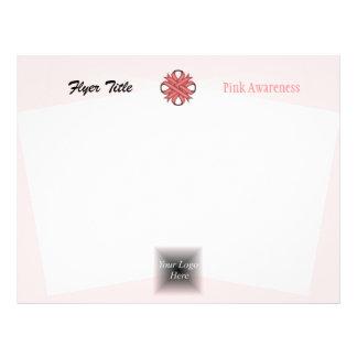 Pink Clover Ribbon 21.5 Cm X 28 Cm Flyer