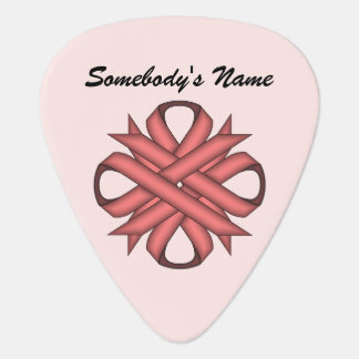Pink Clover Ribbon Template Guitar Pick
