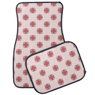 Pink Clover Ribbon Car Mat