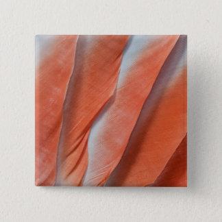 Pink Cockatoo Feather Design 15 Cm Square Badge