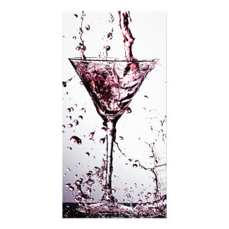 Pink Cocktail 2 Photo Card Template
