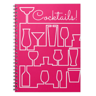 Pink cocktail party notebook