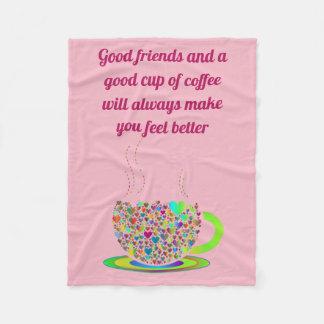 Pink coffee sherpa blanket
