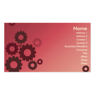 Pink Cogs - Business Pack Of Standard Business Cards