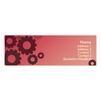 Pink Cogs - Skinny Pack Of Skinny Business Cards