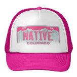 Pink Colorado Native license plate hat