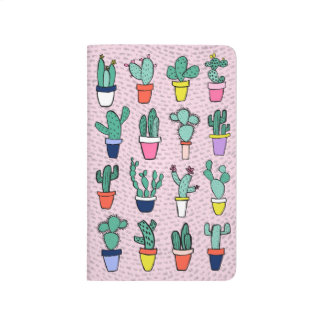 Pink Colorful Cactus Illustrations Pattern Journal