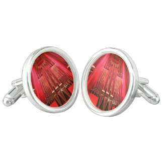 Pink coloured organ pipes cufflinks