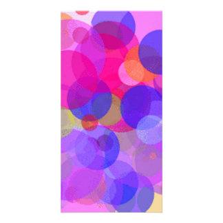 Pink & colours Polkadots Photo Cards