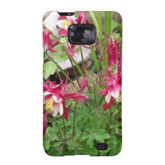 Pink Columbines Galaxy SII Cases