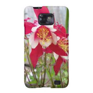 Pink Columbines Samsung Galaxy SII Cover