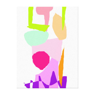Pink Column Watcher Daytime the Sun Stretched Canvas Print