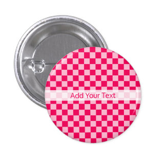 Pink Combination Classic Checkerboard by STaylor 3 Cm Round Badge