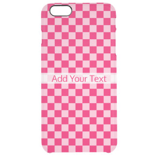 Pink Combination Classic Checkerboard by STaylor Clear iPhone 6 Plus Case