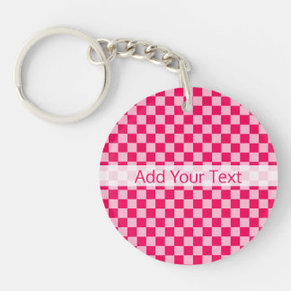 Pink Combination Classic Checkerboard by STaylor Key Ring