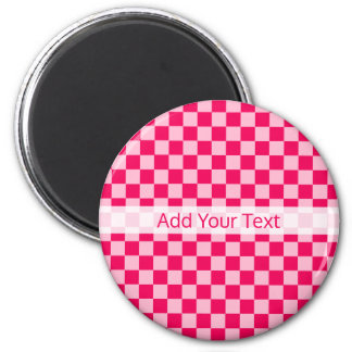 Pink Combination Classic Checkerboard by STaylor Magnet