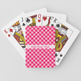 Pink Combination Classic Checkerboard by STaylor Playing Cards