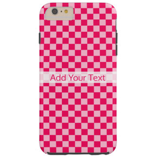 Pink Combination Classic Checkerboard by STaylor Tough iPhone 6 Plus Case
