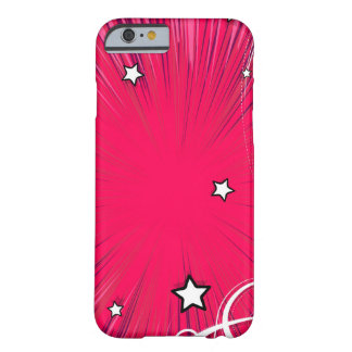Pink Comic Book Style Burst with Stars Barely There iPhone 6 Case