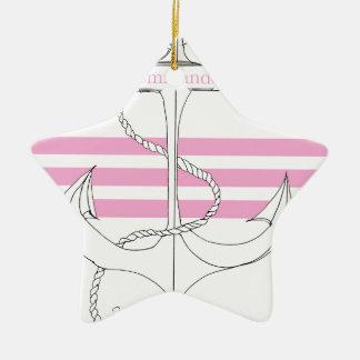 pink commander, tony fernandes ceramic star decoration