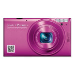 Pink Compact Camera Professional Photographer Business Card